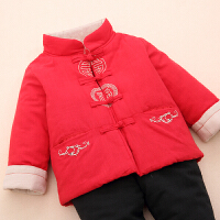 男童周岁礼服冬4加厚5套装6过年喜庆衣服7岁儿童唐装宝宝拜年服