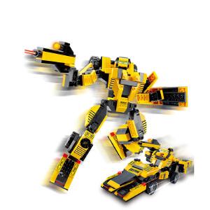 【当当自营】小鲁班星际变形机甲系列儿童益智拼装积木玩具 大黄蜂M38-B0256