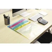 A4透明塑料文件袋办公档案资料袋按扣试卷收纳袋定制印刷LOGO