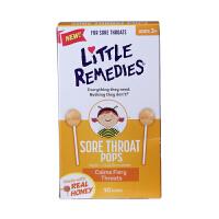 美国直邮 Little remedies 天然蜂蜜止咳棒棒糖不含药物成分10支 海外购