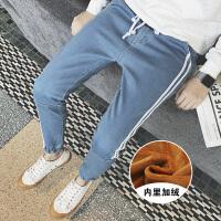 途尚2017时尚男士加绒保暖休闲裤潮流帅气牛仔裤