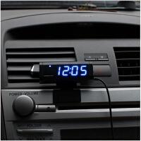 车载电子表数字显示 多功能汽车内时钟车用车载数字电子显示表夜光电子钟带记忆