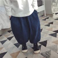 儿童宽松牛仔裤男童长裤子女童阔腿裤女宝宝洋气小童潮5春秋1-3岁