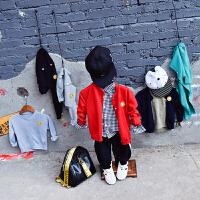童装男童毛衣儿童针织开衫春装2018新款卡通外套女童上衣