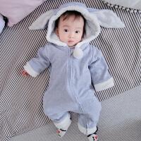 婴儿连体衣服0岁5个月冬装新生儿宝宝潮款内衣冬季童睡衣