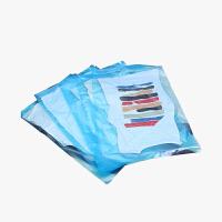 当当优品 便携式手卷真空压缩袋六件套(3中号+3大号)蓝色