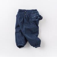 【夹棉】davebella戴维贝拉秋冬女童保暖棉裤 宝宝加厚棉裤DB6205
