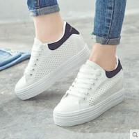 透气小白鞋女内增高网面新款厚底休闲鞋百搭韩版板鞋