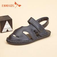 红蜻蜓童鞋夏季新款简约包头时尚男童儿童凉鞋511F62326Z