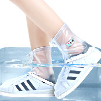 耐磨底雨鞋套男女防滑防水 雨天摩托高筒鞋套防雨儿童加厚雨鞋