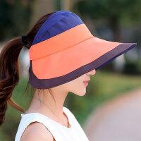 大沿沙滩帽太阳帽可折叠凉帽帽子女遮阳帽女防晒潮防紫外线
