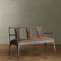 美式铁艺餐椅休闲靠背椅复古工业风座椅吧台桌椅家用餐厅办公椅子