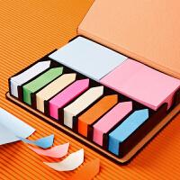 多功能彩色便利贴小清新便签盒便签本创意贴纸带胶n次贴便签定制