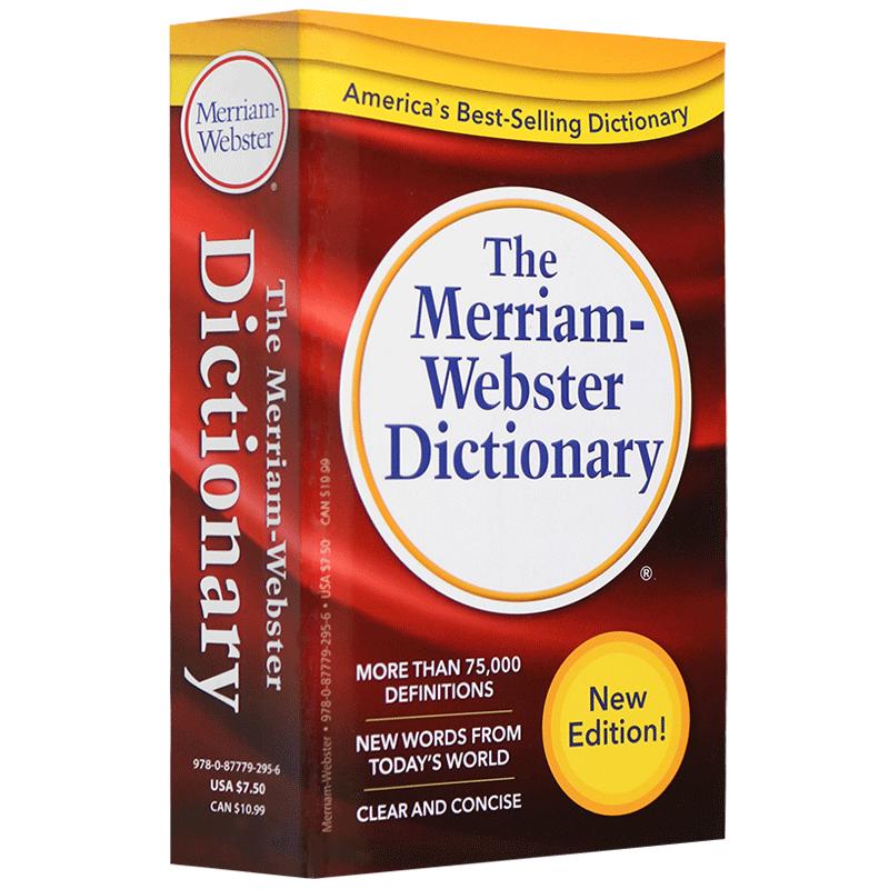 美语全英文原版字典辞典 韦氏英语词典韦小红Merriam-Webster Dictionary韦氏英英字典正版进口英语工具书英文版 托福GRE写作口语 便携修订版 适合托福 SAT GRE