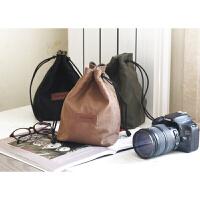 适合佳能100d 200d 70D 760D 80D 5D3 4单反相机收纳袋防水摄影包 中号绿色