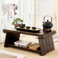 【满减优惠】实木榻榻米小桌子茶台日式炕几家用茶桌折叠桌阳台桌子飘窗小茶几