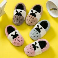 儿童可爱包跟家居室内卡通保暖毛棉鞋男童女童棉拖鞋女