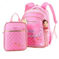韩版可爱公主小学生书包女生3-6年级8-12岁双肩儿童背包 带挎包 套装 花边款
