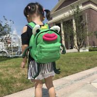 儿童防走失带牵引绳1-3-5岁幼儿园宝宝书包青蛙小双肩男女童背包