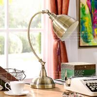 奇居良品 美式北欧简约现代客厅书房卧室装饰灯具 卡利尔铁艺台灯