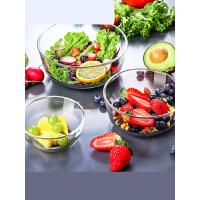 【支持�Y品卡】玻璃碗水果沙拉碗家用耐�崤菝嫱胪该��碗大碗餐具套�br2r