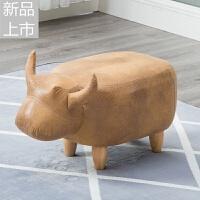 动物换鞋凳储物椅奶牛矮凳门口玄关换鞋凳子小椅子实木可爱定制