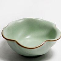 普润(PU RUN) 陶瓷故事 汝窑茶杯 开片品茗杯 哑光天青釉陶瓷杯
