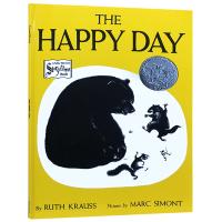 快乐的一天 英文原版 The Happy Day 快乐的日子 英文版儿童启蒙绘本 凯迪克银奖 黑白绘本里的春天 Ruth