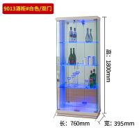 玻璃酒柜现代简约落地小型客厅餐边柜靠墙家用展示柜小酒架欧式 单门