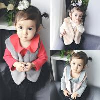 宝宝春季3个月1岁童婴儿童潮流马甲小童装装冬装外套装新年