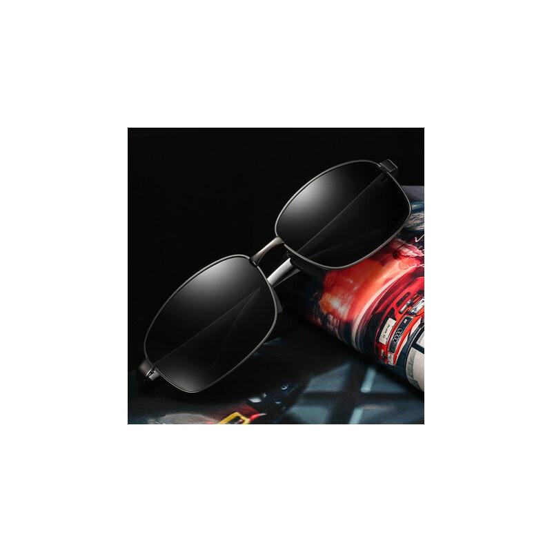 偏光男士太阳镜男潮钓鱼户外墨镜 新款男士墨镜方形太阳镜司机蛤蟆镜 品质保证 售后无忧 支持货到付款