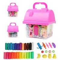 橡皮泥12色24色3D彩泥套装儿童粘土橡皮泥玩具
