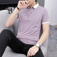 2020新款夏季潮流男�b�r衫�IPOLO衫短袖T恤男翻�I半袖T129 P35