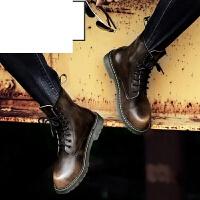 冬季男靴新款休闲雪地短靴军靴沙漠靴马丁靴男英伦高帮鞋加绒棉鞋男鞋