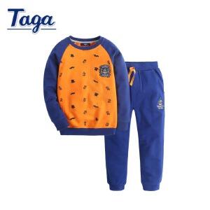 TAGA童装 春秋款童装男童套装长袖儿童运动装两件套