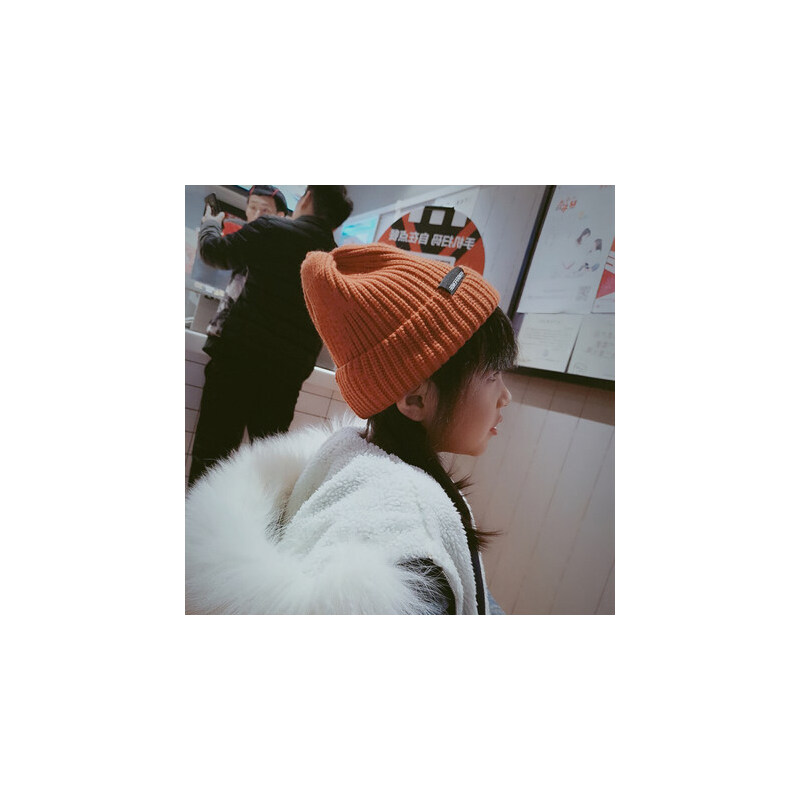 儿童帽子男潮防风针织帽男童韩版女护耳女童宝宝毛线帽