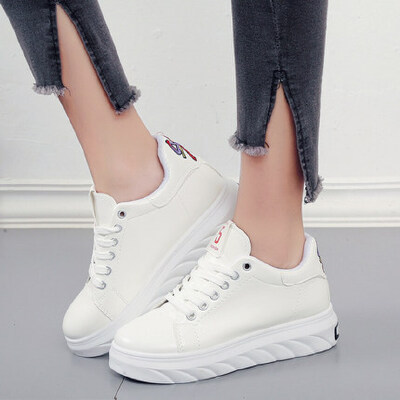 平底圆头系带单鞋女鞋深口低跟交叉绑带橡胶PU休闲鞋 品质保证 售后无忧