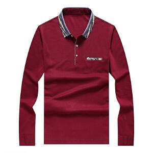 Nanjiren南极人中年短袖T恤2017夏季新款简约气质中老年男装polo汗衫