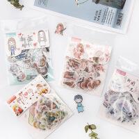 手帐和纸贴纸包怦然心动系列 京都和风少女创意手账DIY装饰素材
