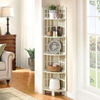 卧室转角书架角落架客厅置物架花架搁板墙角置物架五层架子