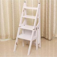 新款家用折叠楼梯椅全实木梯子椅子美式乡村梯凳室内登高凳