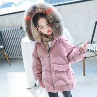 女孩棉袄女童中长款儿童洋气冬装棉衣外套
