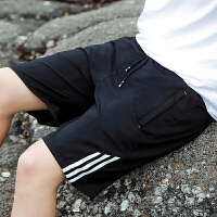 夏季休闲短裤男宽松5分中裤子男士运动五分裤大码跑步沙滩裤