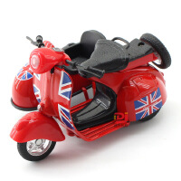 铭源 仿真复古三轮小绵羊合金摩托车 儿童回力玩具车摆件