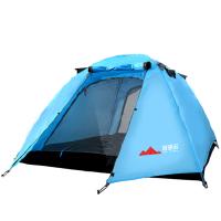 帐篷户外3-4人家庭露营野外野营简易自驾游户外帐篷双层