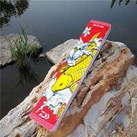 彩绘45cm子线盒对开双层渔具盒三层40cm仕挂盒钓鱼配件盒鱼线