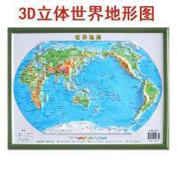 世界地形 世界地理地图 编制出版发行 3D打印三维立体图形直观展示地形地貌 办公家用地图册 新华书店图书籍 成都地图出