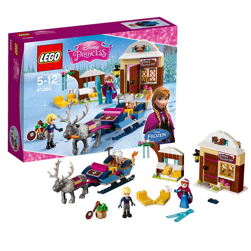 [当当自营]LEGO 乐高 迪士尼系列 安娜与克斯托夫的雪橇探险 积木拼插儿童益智玩具 41066【当当自营】2016年新品!适合5-12岁,174pcs小颗粒积木