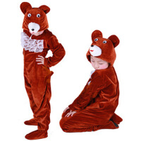 圣诞节宝宝表演服装 儿童演出服女 跳舞蹈衣小熊动物造型套装