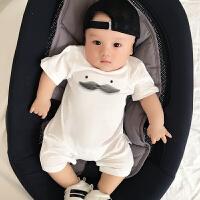 婴儿连体衣服宝宝新生儿哈衣0装3个月薄款新生儿潮款外出服